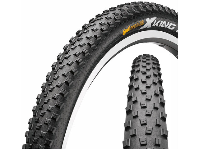 "Continental X-King 2.4 Tyre Sport 27.5"", wire bead Skin black/black"